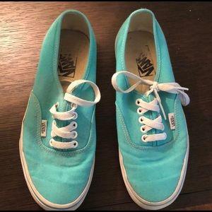 Vans Shoes 2 Pairs! Dark Grey & Teal great deal